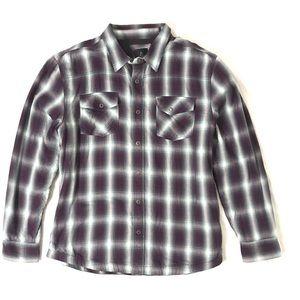 PraNa Men's asylum plaid flannel heavyweight shirt